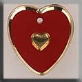 12094 Red/Gold Engraved Heart