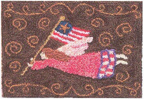 Angel of Freedom, Punchneedle, Designs From the Pep\'r Pot