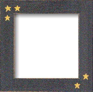 Black Matte with Primitive Stars, Frame, Mill Hill Beads