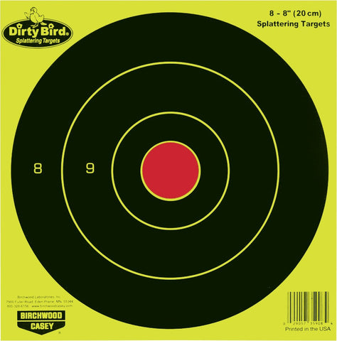 "Blanco Birchwood Casey Dirty Bird Bull´s Eye Amarillo 8"" - Sportsguns"