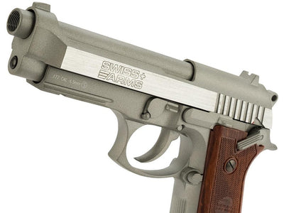 Pistola CO2 Swiss Arms SA 92 Gris - Full Metal & Blowback - Sportsguns