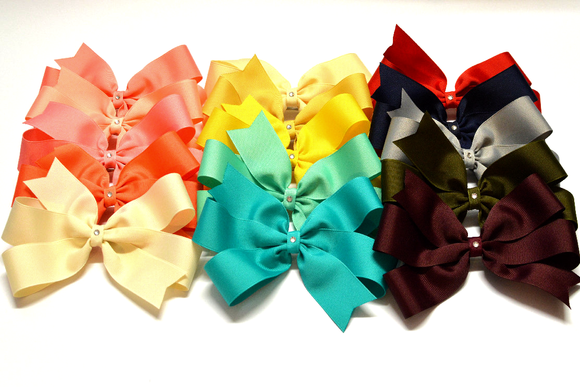 pinwheel hair bows, small pinwheel bows, large pinwheel hair bows