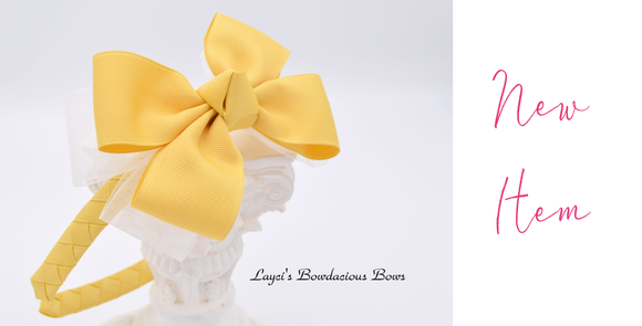 bows on plastic headbands