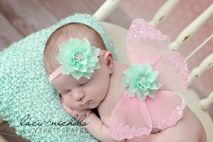 newborn photo props, newborn girl props, baby photography, butterfly wings