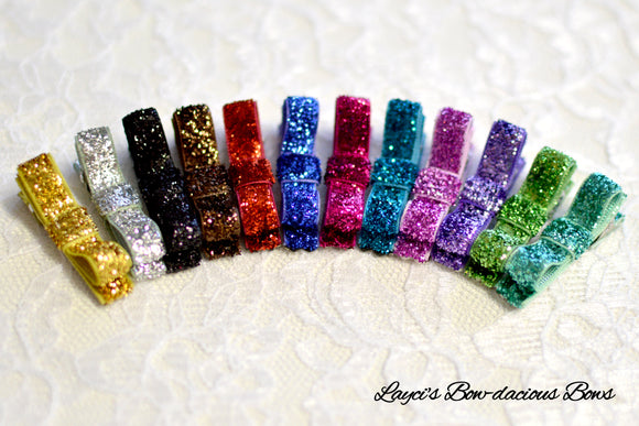 glitter hair clips, no slip baby hayr clips