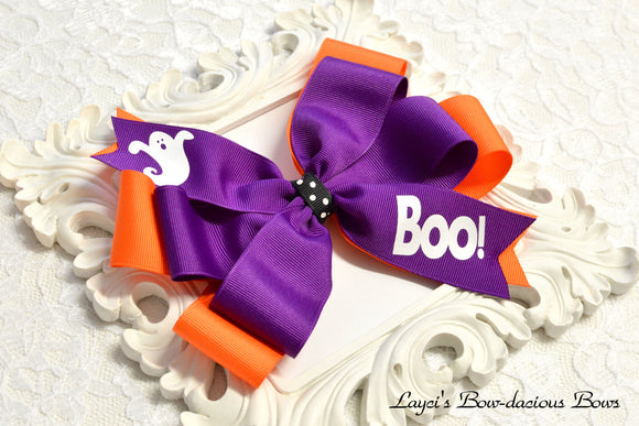 halloween hair bows, purple hair bow