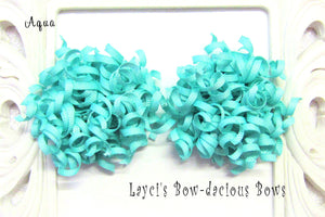 aqua hair bows, tiffany hair bows, korker baby bows