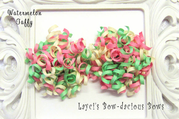Watermelon Taffy Petite Korker Hair Bow Set