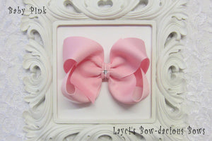 Extra Large Baby Pink Boutique Hair Bow - Ready to Ship -B2