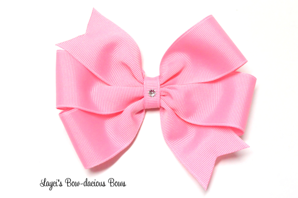 large pinwheel hair bows