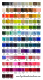 color chart for extra large hair bows