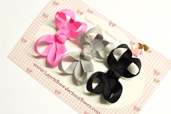 no slip baby hair bows, solid color baby bows, 2 inch bows
