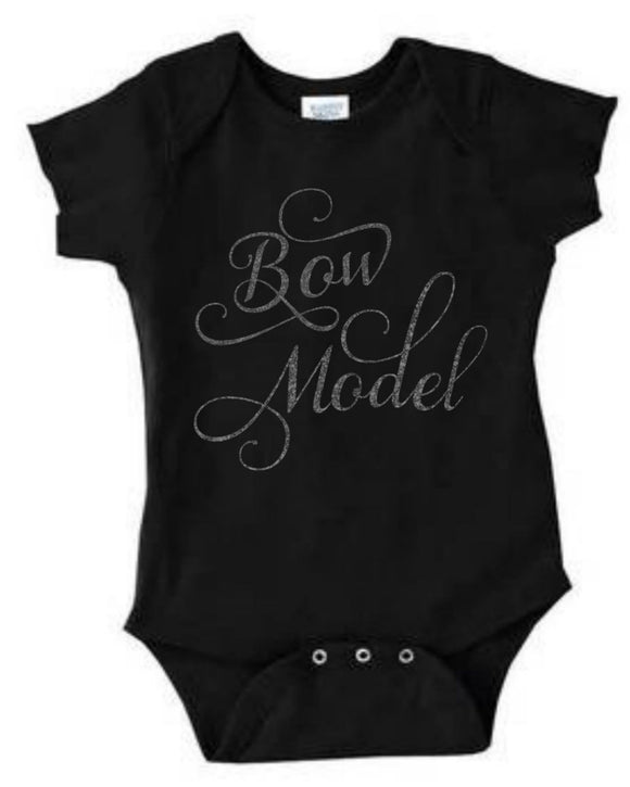 Black Bow Model Onesie