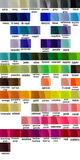 color chart for small grosgrain hair bows