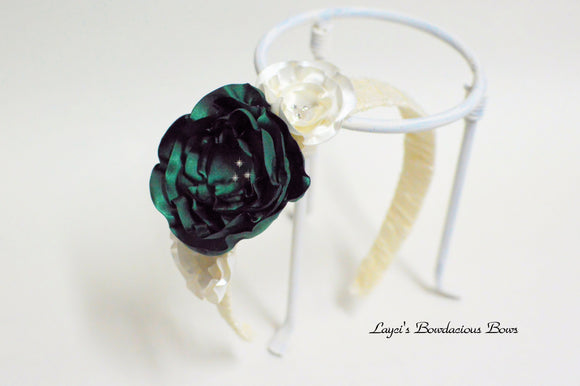 Girls Floral Headband - Fancy Headband - Flower Headband