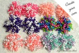 custom korker hair bows, choose your colors, petite korker bows, pigtail bows