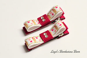 gingerbread girl hair clips, no slip christmas clips