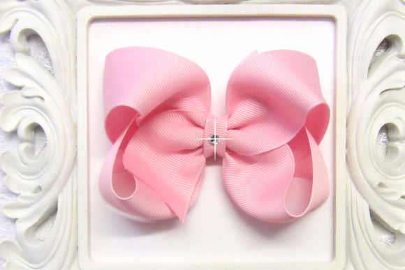 large baby pink boutique hair bow, pink baby bows, extra large pink bow