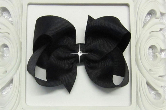 Extra Large Black Boutique Hair Bow - Ready to Ship -B2