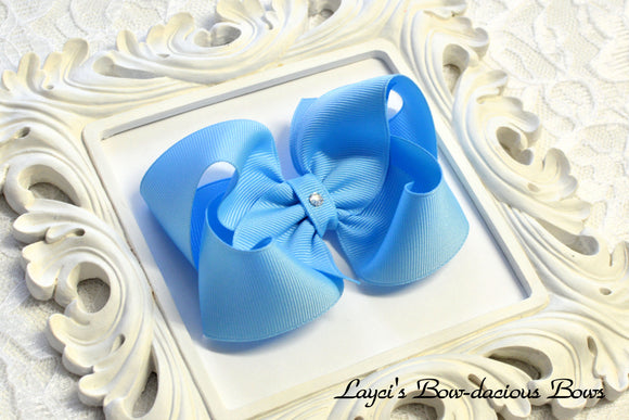 blue boutique hair bow