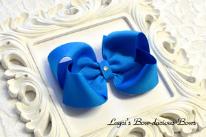 blue magic boutique hair bow