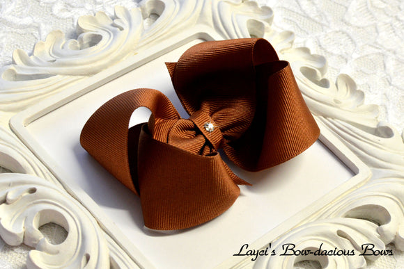 Coffee Boutique Hair Bow