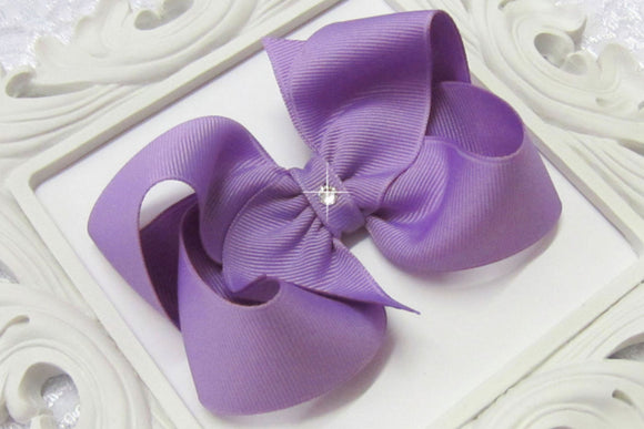 light orchid boutique hair bow, lavender baby bow, purple bow