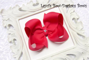 large french pink boutique hair bow
