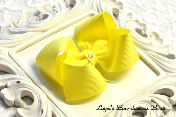 maize yellow boutique hair bow