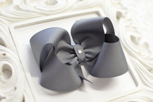 pewter grey gray boutique hair bows