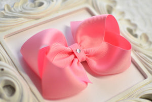 large pink boutique hair bow, pink baby bows, extra large pink bows