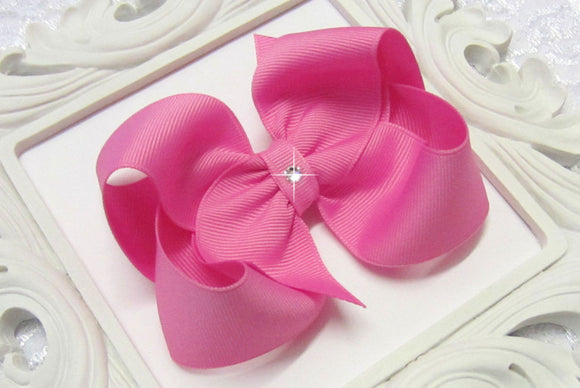 large pixie pink boutique hair bow, extra large pink bow