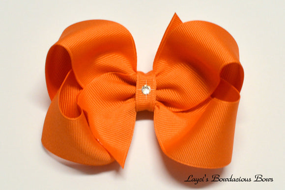 large pumpkin pie boutique hair bow, fall hair bows