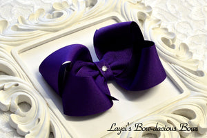 purple hair bow, purple baby bow, large purple hair bow