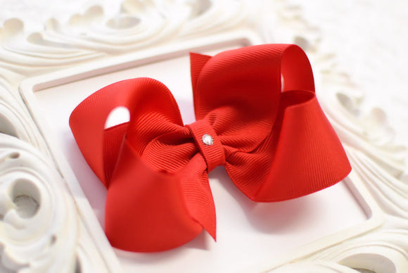 Extra Large Red Boutique Hair Bow - Ready to Ship -B3