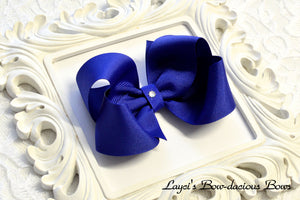 royal blue boutique hair bow
