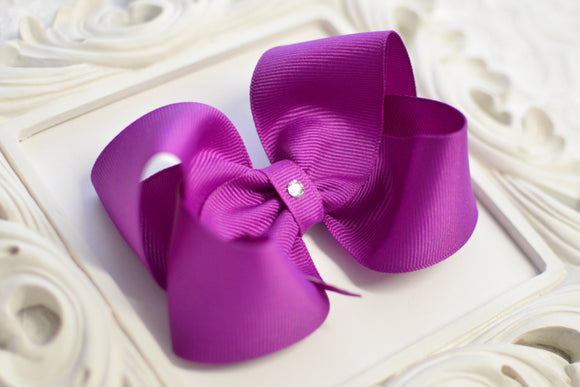 royal orchid boutique hair bow, purple hair bow, large purple bows