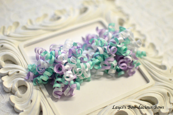 Lavender Skies Petite Korker Hair Bow Set