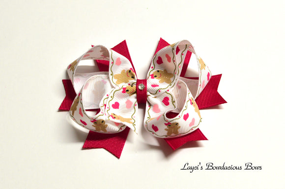 Gingerbread Girl Hair Bow