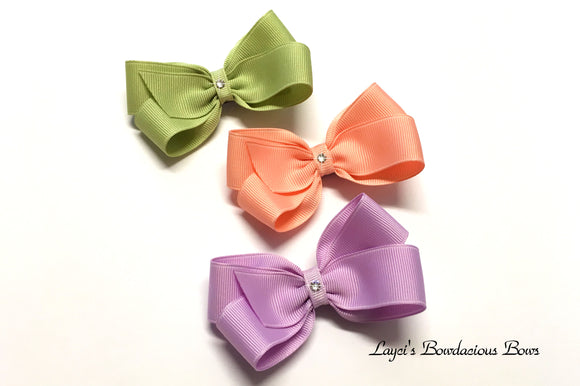 medium classic hair bow, 3 inch bows