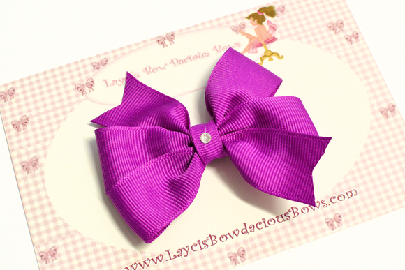 medium pinwheel hair bow