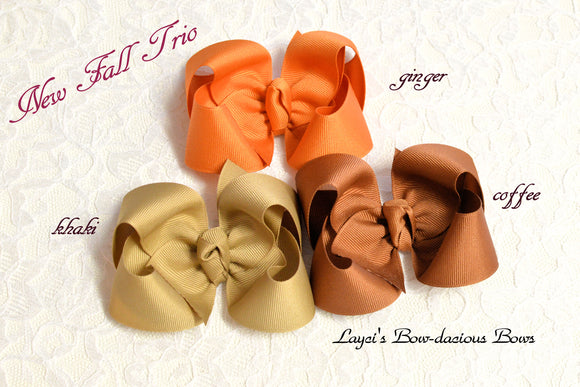 Knotty Boutique Hair Bows - Fall Trio - 3 sizes
