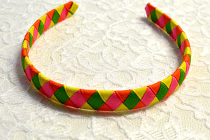 Bright Woven Big Girl Headband - Ready to Ship - B1