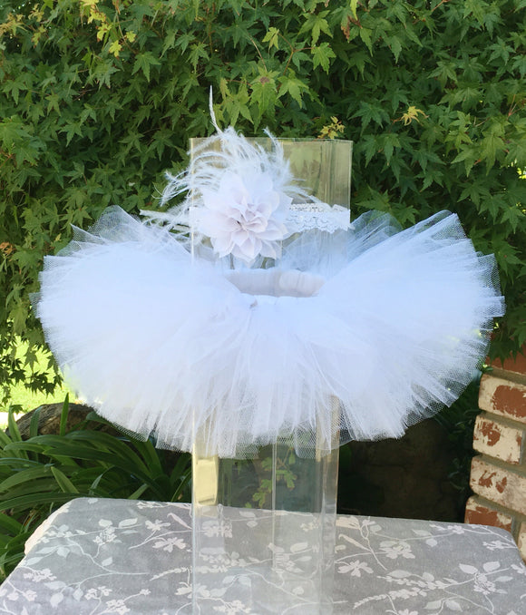 Stunning White Tutu and Headband Set