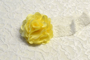 Yellow Flower Headband - Ready to Ship - Rts1