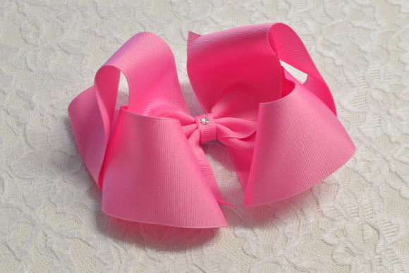 Super Large Pixie Pink Boutique Hair Bow - Ready to Ship -B1