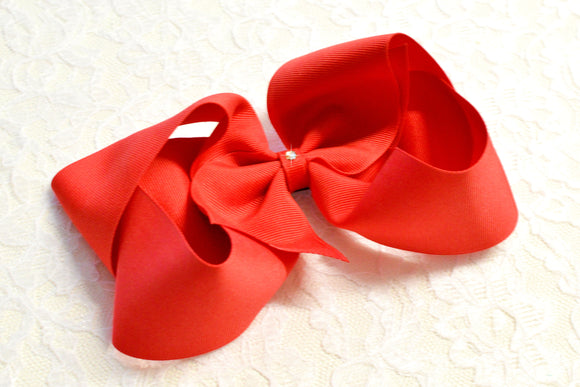 Super Large Red Boutique Hair Bow - Ready to Ship -B1