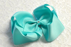 Super Large Robin's Egg Blue Boutique Hair Bow - Ready to Ship -B1