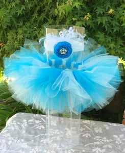 Turquoise and Blue Tutu Set - girls blue tutu - tutu with headband