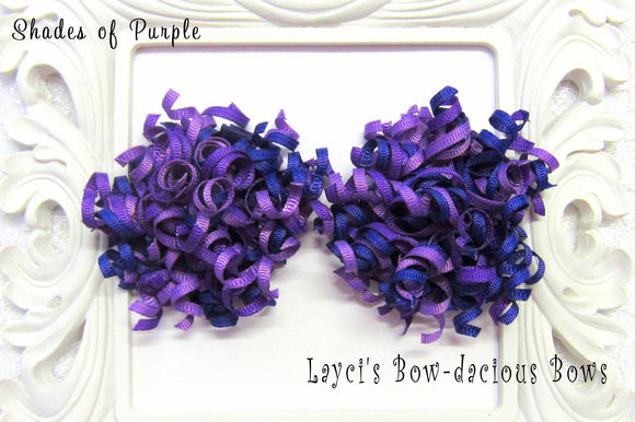 Shades of Purple Petite Korker Hair Bow Set